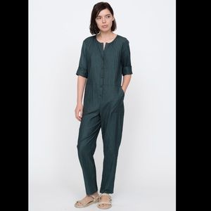 NWT SEA New York Cora Green Cotton Jumpsuit US 12